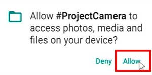 Allow to store photos and videos