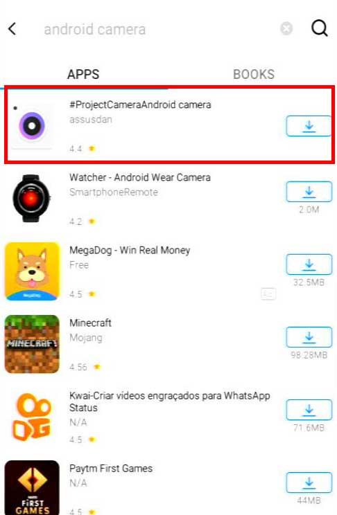 Search Android Camera